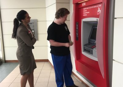 Teacher and Student at ATM