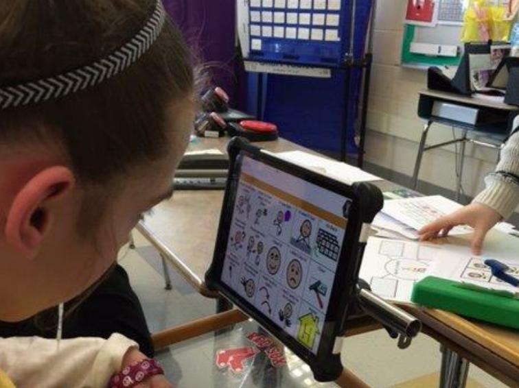 Female Student Using Technology